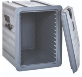 GN1/1-es elöltöltős thermobox levehető ajtóval