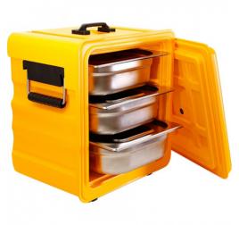 GN1/2-es elöltöltős thermobox levehető ajtóval