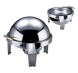 6,8 literes chafing roll top fedővel, gömb