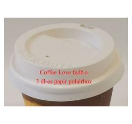 3 dl-es papírpohárhoz fedő, ivó-lyukkal 1 000 db / gyűjtő