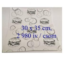 Szendvics csomagoló zsírpapír (30 x 35 cm) 2 980 ív / csom