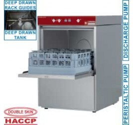 40x40 cm-es Diamond ürítőszivattyús pohármosogatógép érintőgombos digitális vezérléssel