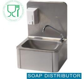 Diamond fali kézmosó szappanadagolóval, kifolyókarral, hideg-meleg vizes keverőszeleppel