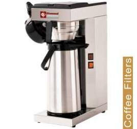 Diamond kávégép hosszúkávéhoz, 1 termoszos kifolyóval, manuális vízfeltöltéssel