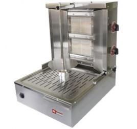 Diamond 2 égős gázüzemű gyros sütő 400 mm-es nyárssal