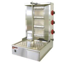 Diamond 3 égős gázüzemű gyros sütő 600 mm-es nyárssal