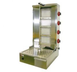 Diamond 4 égős gázüzemű gyros sütő 800 mm-es nyárssal