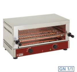 1 szintes Diamond toaster-szalamander 520x320 mm-es sütőráccsal