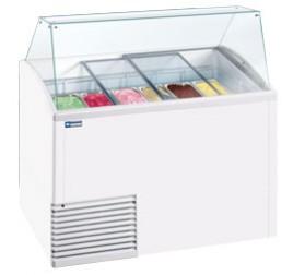 Diamond fagylalt hűtőpult 10+12 tégelyes