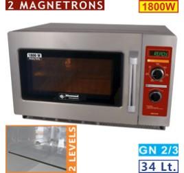 34 literes Diamond mikrohullámú sütő, elektromechanikus, 1800W