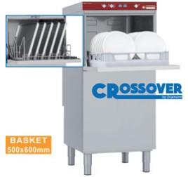 50x60 cm-es Diamond magasított kivitelű gravitációs mosogatógép tányérokhoz és edényzethez