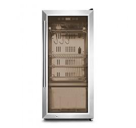 Asztali üvegajtós érlelő szekrény