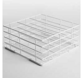 40x40 cm-es Diamond mosogatókosár poharakhoz, 4 rekeszes, rilzánozott