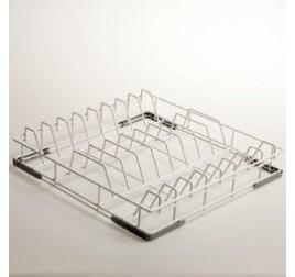 50x50 cm-es Diamond mosogatókosár tányérokhoz, rilzánozott drót