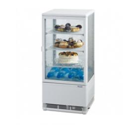 78 literes bemutató hűtővitrin, ezüst