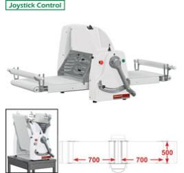 Diamond asztali tésztanyújtó gép, 700x500 mm-es nyújtási felülettel, 1 sebességes