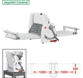 Diamond asztali tésztanyújtó gép, 1000x500 mm-es nyújtási felülettel. 1 sebességes