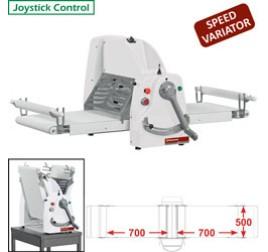 Diamond asztali tésztanyújtó gép, 700x500 mm-es nyújtási felülettel, változtatható sebességes