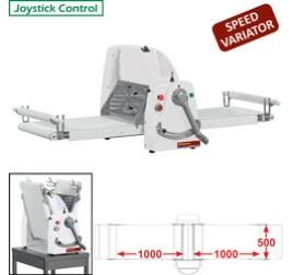 Diamond asztali tésztanyújtó gép, 1000x500 mm-es nyújtási felülettel. változtatható sebességes