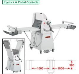 Diamond állványos tésztanyújtó gép, 1000x500 mm-es nyújtási felülettel. 1 sebességes