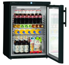 148 literes Liebherr üvegajtós hűtőszekrény - fekete