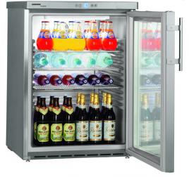 148 literes Liebherr üvegajtós hűtőszekrény - rozsdamentes külsővel
