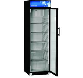 403 literes Liebherr üvegajtós hűtőszekrény oldalsó LED világítással - fekete