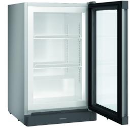 93 literes Liebherr üvegajtós mélyhűtő szekrény - szürke