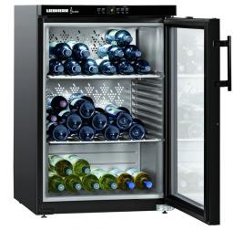 145 literes Liebherr üvegajtós borhűtő (borklíma) 1 hőmérsékleti zónával