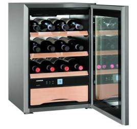 56 literes Liebherr üvegajtós borhűtő (borklíma) 1 hőmérsékleti zónával