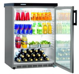 171 literes Liebherr üvegajtós hűtőszekrény - szürke