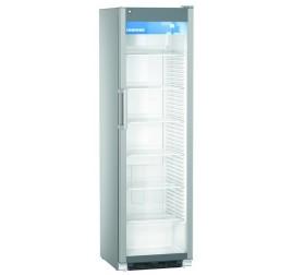 441 literes Liebherr üvegajtós hűtőszekrény reklám matricával - szürke