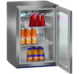 44 literes Liebherr üvegajtós hűtőszekrény - rozsdamentes külsővel
