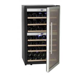 190 literes üvegajtós borhűtő 2 külön szabályozható hőmérsékleti zónával