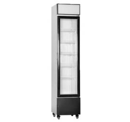 160 literes üvegajtós hűtőszekrény