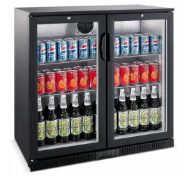 208 literes üvegajtós bárhűtő beépített aggregáttal