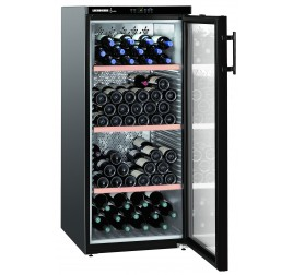 336 literes Liebherr üvegajtós borhűtő (borklíma) 1 hőmérsékleti zónával