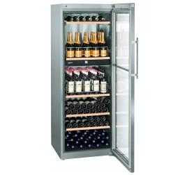 593 literes Liebherr üvegajtós borhűtő (bortemperáló) 2 külön szabályozható hőmérsékleti zónával