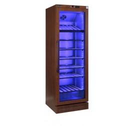 400 literes üvegajtós borhűtő fa mintázatú külső felülettel