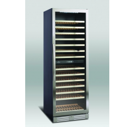 416 literes üvegajtós borhűtő 2 hőmérsékleti zónával