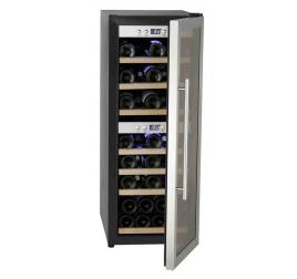 125 literes üvegajtós borhűtő 2 külön szabályozható hőmérsékleti zónával