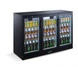 330 literes üvegajtós bárhűtő beépített aggregáttal