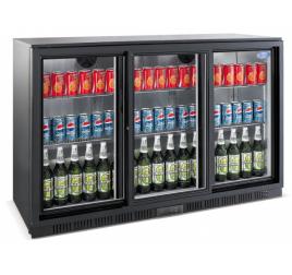 330 literes csúszó üvegajtós bárhűtő beépített aggregáttal