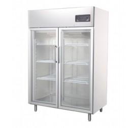 1200 literes üvegajtós, rozsdamentes hűtőszekrény