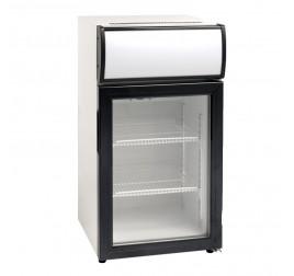 50 literes üvegajtós hűtőszekrény