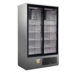 1200 literes csúszó üvegajtós, rozsdamentes hűtőszekrény