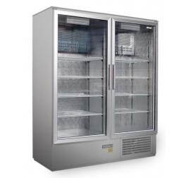 1400 literes üvegajtós, rozsdamentes hűtőszekrény