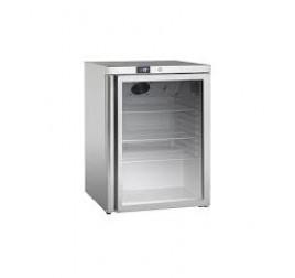 145 literes üvegajtós hűtőszekrény