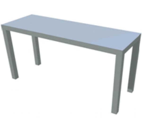 100x30 cm-es rozsdamentes átadó polc, 1 szintes