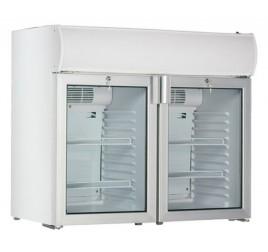 170 literes üvegajtós hűtőszekrény